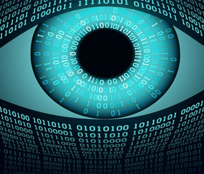 Big brother electronic eye concept, technologies for the global